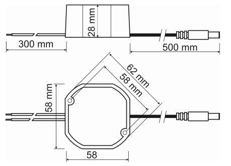 PSC12015 - wymiary zasilacza PULSAR