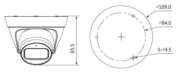 wymiary kamery IPC-CT1C20