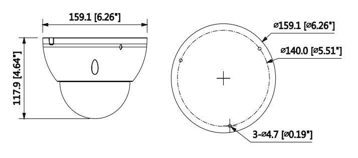 wymiary kamery IPC-HDBW5231E-ZE