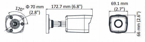 wymiary kamery DS-2CD1043G0-I
