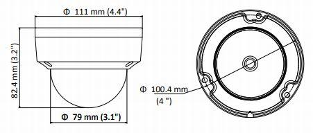 wymiary kamery DS-2CD1143G0-I