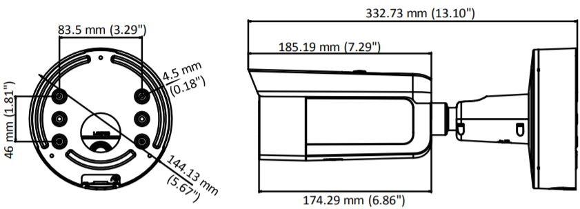 DS-2CD2643G0-IZS - wymiary kamery Hikvision