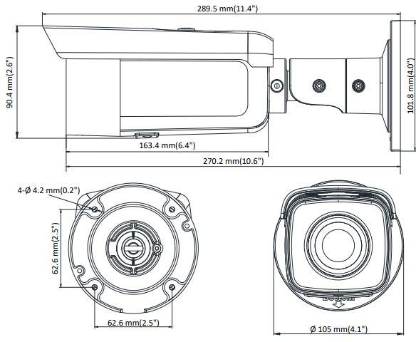 wymiary kamery DS-2CD2T46G1-2I