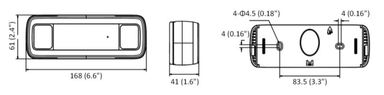 DS-2CD6825G0/C-IVS - wymiary kamery