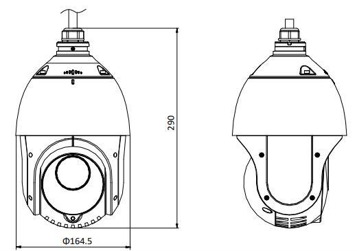 DS-2DE4215IW-DE(S5) - wymiary kamery PTZ HIKVISION