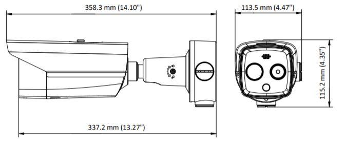 DS-2TD2617B-3/PA(B) - wymiary kamery termowizyjnej